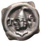 Krenkingen - um 1350 - vierzipfliger Brakteat - Tiengen Kopf mit Helm - vz-st