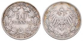 Kaiserreich - J 15 - 1900 J - 50 Pfennig - großer Adler - ss