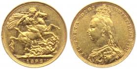 Australien - 1892 M - Victoria (1837 - 1901) - Sovereign - ss-vz min. RF