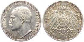 Hessen - J 76 - 1910 A - Ernst Ludwig (1892 - 1918) - 3 Mark - ss-vz