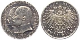 Hessen - J 74 - 1904 A - Ernst Ludwig (1892 - 1918) mit Landgraf Philipp - 2 Mark - vz-st