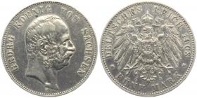 Sachsen - J 130 - 1903 E - Georg (1902 - 1904) - 5 Mark - ss+