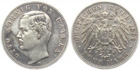 Bayern - J 46 - 1899 D - König Otto (1886 - 1913) - 5 Mark - ss+