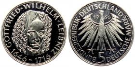 BRD - J 394 - 1966 - Wilhelm Leibniz - 5 Mark - PP