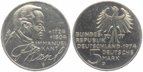 BRD - J 414 - 1974 - Immanuel Kant - 5 Mark - PP in Folie