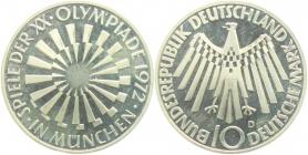BRD - J 401b - 1972 D - 10 Mark - Olympische Spiele 1972 in München - Spirale in München - 10 Mark - PP in Folie