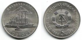 DDR - J 1619 - Überseehafen Rostock - 5 Mark - st