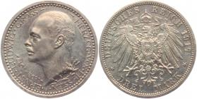 Hessen - J 77 - Großherzog Ernst Ludwig (1892 - 1918) - 3 Mark - PP