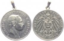 Sachsen - J 135 - 1912 E - Friedrich August III. (1904 - 1918) - 3 Mark - vz mit Öse