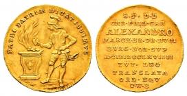 Brandenburg-Ansbach - 1769 - Alexander (1757 - 1791) - Auf die Huldigung der Vogtl. Ritterschaft - Dukat - vz