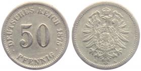 BRD - J 7 - 1875 G - 50 Pfennig - kleiner Adler - s-ss