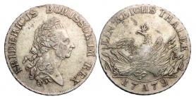 Brandenburg - Preussen - 1779 A - Friedrich II. (1740-1786) - Der alte Fritz - Taler - vz min. RF