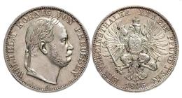 Brandenburg - Preussen - 1866 A - König Wilhelm I. (1861 - 1888) - Sieg über Österreich - Vereinstaler - vz+