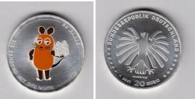 BRD - 2021 - 50 Jahre Sendung mit der Maus - 20 Euro - bankfrisch