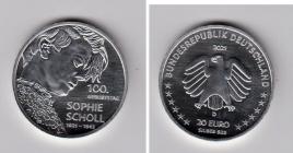 BRD - 2021 - Sophie Scholl - 20 Euro - bankfrisch