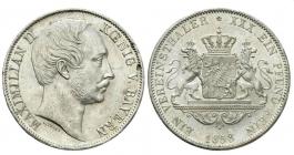 Bayern - 1858 - Maximilian II. Joseph (1848 - 1864) - Taler - vz+