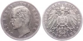 Bayern - J 46 - 1898 D - König Otto (1886 - 1913) - 5 Mark - ss+