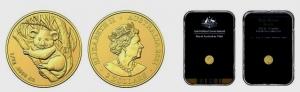 Australien - 2021 - Mini Koala - 2 Dollars im Originalbox / Slab - unc.