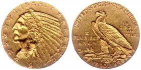USA - 1911 - Indian Head - 5 Dollars - ss-vz