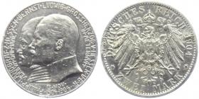 Hessen - J 74 - 1904 A - Ernst Ludwig (1892 - 1918) mit Landgraf Philipp dem Großmütigen - 2 Mark - ss - Bsp.