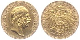 Sachsen - J 265 - 1903 E - Georg (1902 - 1904) - 10 Mark - vz