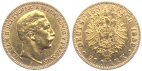 Preussen - J 250 - 1889 A - Wilhelm II. (1888 - 1918) - 20 Mark - ss-vz