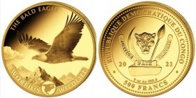 Kongo - 2021 - Weißkopfseeadler - 500 Francs - 5 Unzen - PP