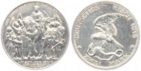 Preussen - J 109 - 1913 - Wilhelm II. (1888 - 1918) - Der König rief... - 2 Mark - vz