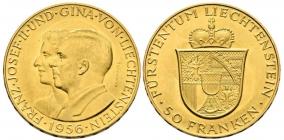Liechtenstein - 1956 - Fürst Franz Joseph II. (1938 - 1989) - 50 Francs - st