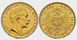 Preussen - J 252 - 1912 A - Wilhelm II. (1888 - 1918) - 20 Mark vz
