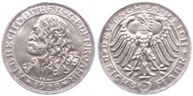 Weimarer Republik - J 332 - 1928 D - Albrecht Dürer - 3 Reichsmark - vz-st