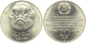 DDR - J 1592 - 1983 - Karl Marx - 20 Mark - st