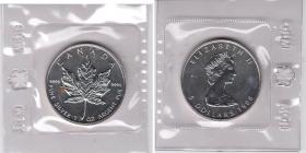 Kanada - 1988 - Maple Leaf - 1 Unze - 5 Dollars - originalverschweißt