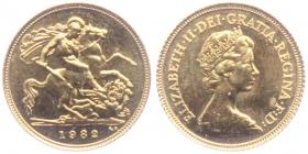 Großbritannien - 1982 - Elisabeth II. (seit 1953) - 1/2 Sovereign - unc.