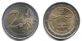 Belgien - 2008 - 60 Jahre Menschenrechte - 2 Euro - bfr