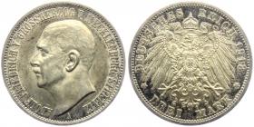 Mecklenburg-Strelitz - J 92 - 1913 A - Adolf Friedrich (1904 - 1914) - 3 Mark - vz-st