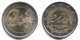 Belgien - 2010 - EU-Ratspräsidentschaft - 2 Euro - bfr