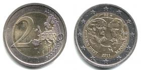 Belgien - 2011 - 100 Jahre Internationaler Frauentag - 2 Euro - bfr