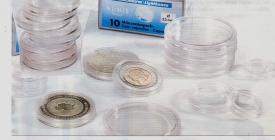 Premium-Münzkapseln im 10er-Pack - Ø 19 mm - z.B. für 2 Euro-Cents, US-Pennies
