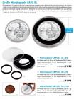 Premium-Münzkapseln im 10er-Pack - Ø 21-62 mm mit 14 Distanzringen für besonders große Münzen / Medaillen