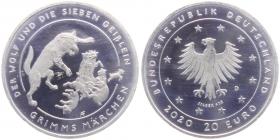 BRD - 2020 - Der Wolf und die sieben Geißlein - Grimms Märchen - 20 Euro - bfr