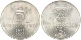 BRD - J 410 - 1971 - Albrecht Dürer - 5 Mark - PP in Folie