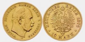 Preussen - J 245 - 1876 B - Kaiser Wilhelm I. (1871-1888) - 10 Mark - ss