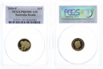 Australien - 2010 - Koala - 15 Dollars - 1/10 Unze - im PCGS-Slab - PR 69DCAM - PP