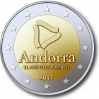 Andorra - 2017 - Die Pyrinäen auf Coincard - 2 Euro - st