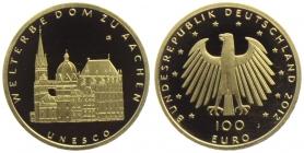 Deutschland - 2012 J - UNSCO Weltkulturerbe - Dom zu Aachen - 100 Euro - st