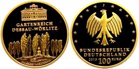 Deutschland - 2013 J - UNSCO Weltkulturerbe - Dessau-Wörlitz - 100 Euro - st