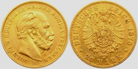Preussen - J 246 - 1879 A - Wilhelm I. (1861 - 1888) - 20 Mark ss-vz