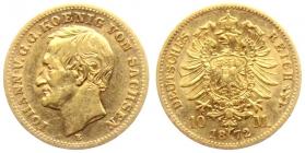 Sachsen - J 257 - 1872 E - Johann (1854 - 1873) - 10 Mark ss