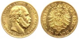 Preussen - J 245 - 1877 B - Wilhelm I. (1861 - 1888) - 10 Mark vz